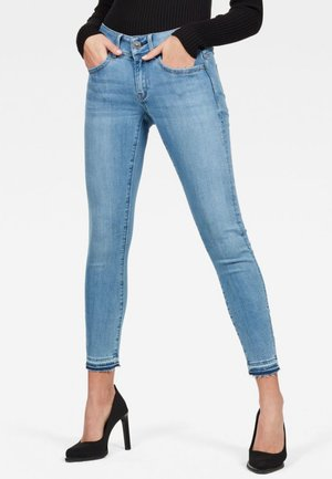 LYNN MID SKINNY RIPPED ANKLE - Jeans Skinny Fit - blue