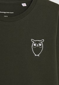 KnowledgeCotton Apparel - FLAX OWL LONG SLEEVE TEE  - Long sleeved top - olive - 3