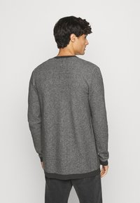 Selected Homme - SLHNEWJEFF OPEN  - Cardigan - anthracite/egret - 2
