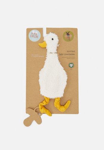 BABY COMFORTER GOTS TINY FARMER GOOSE UNISEX - Toy - white