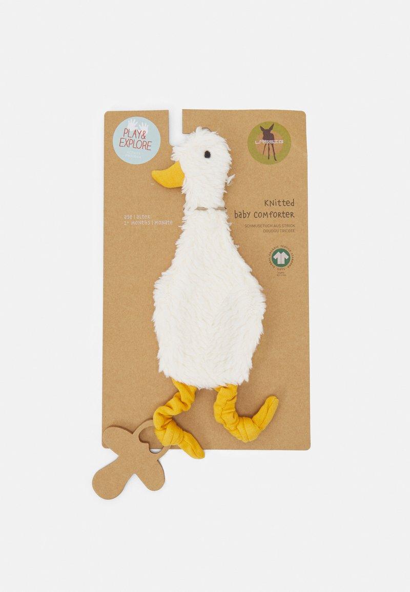 Lässig - BABY COMFORTER GOTS TINY FARMER GOOSE UNISEX - Toy - white