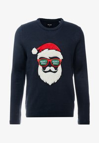 Only & Sons - ONSXMAS FUNNY BADGE - Jumper - blue nights - 3