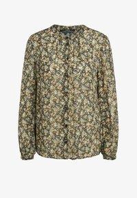 SET - Button-down blouse - black green - 4