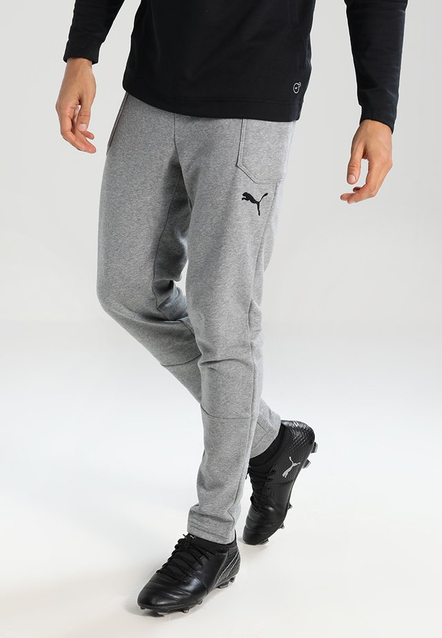 LIGA CASUALS PANTS - Tracksuit bottoms - medium gray heather/black
