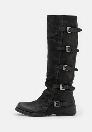COOPER - Cowboy/Biker boots - morat black