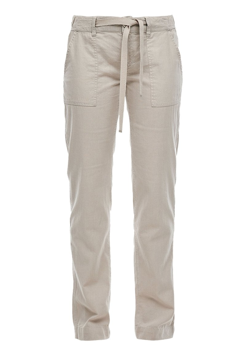 QS by s.Oliver - Trousers - latte