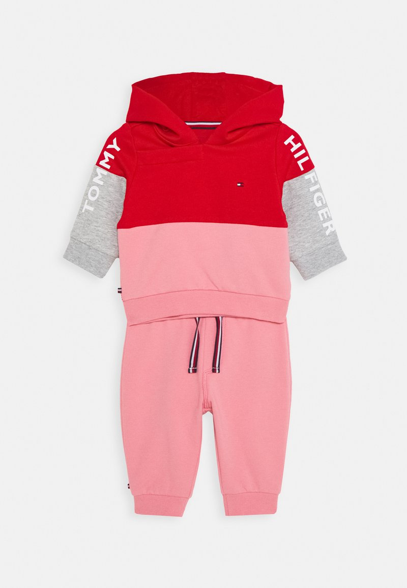 Tommy Hilfiger - BABY COLORBLOCK HOODIE SET - Mikina - red