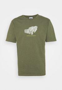 WAWWA - PAVILION UNISEX - Print T-shirt - khaki green - 4
