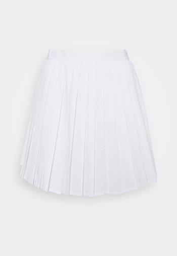 PLEATED SKIRT - Mini skirt - white