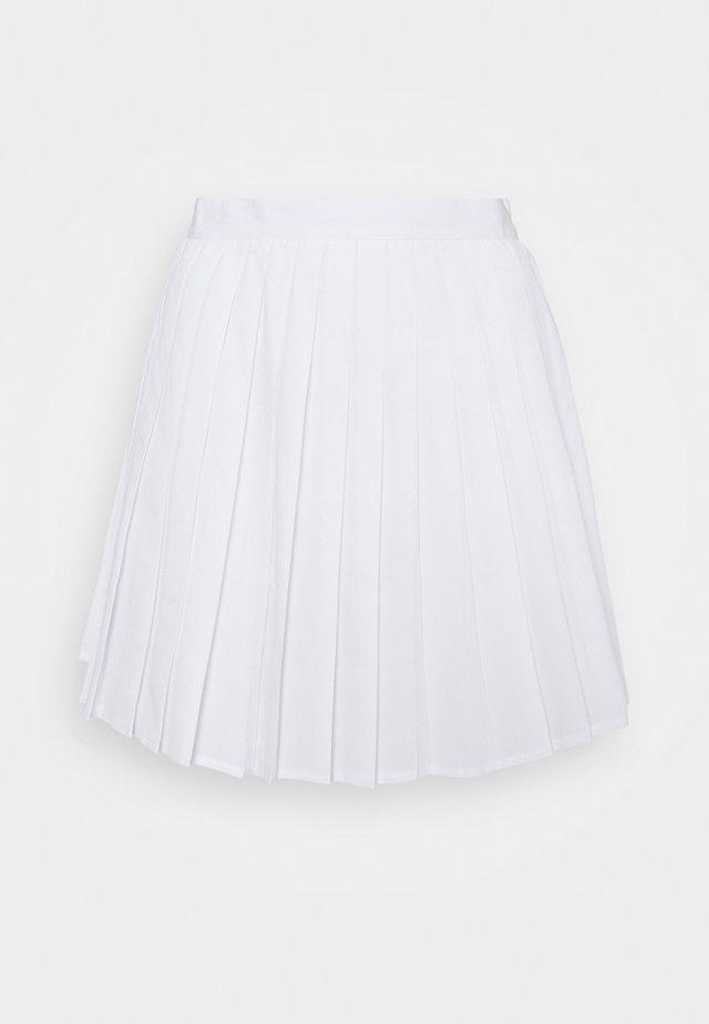 PLEATED SKIRT - Miniskjørt - white