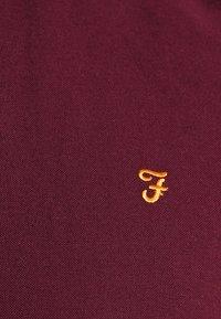 Farah - BREWER SLIM FIT - Vapaa-ajan kauluspaita - bordeaux - 4