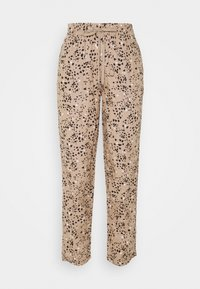 Marks & Spencer London - TAP PRINT - Trousers - light brown - 0