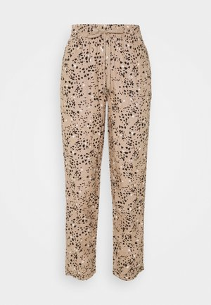 TAP PRINT - Trousers - light brown
