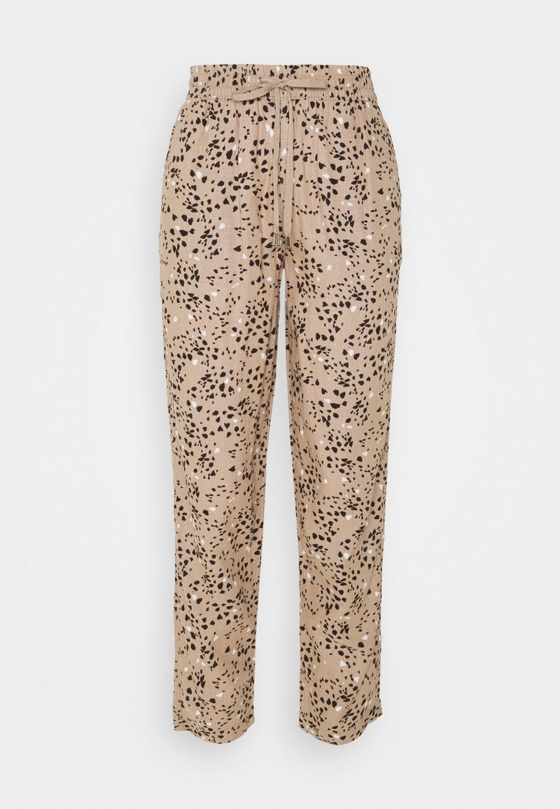 Marks & Spencer London - TAP PRINT - Trousers - light brown