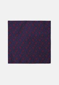 Only & Sons - ONSTAJ PATTERN BOWTIE SET - Pocket square - dark navy/red - 5