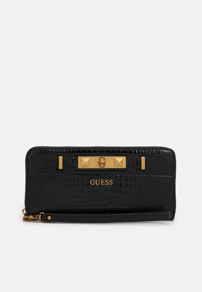 Guess - RAFFIE LARGE ZIP AROUND - Wallet - black