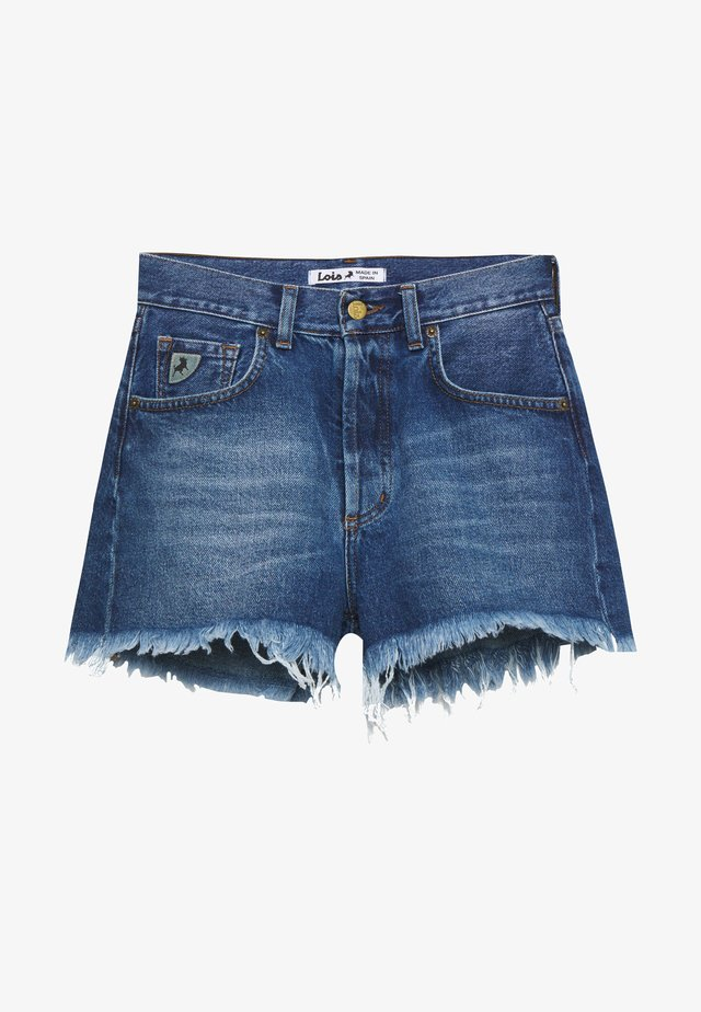 SANTA - Denim shorts - stone