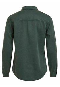 Vila - Button-down blouse - darkest spruce - 5