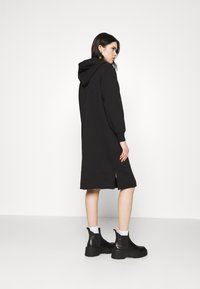 NU-IN - HOODIE MIDI DRESS - Day dress - black - 2