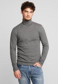 Marc O'Polo - LONGSLEEVE TURTLENECK - Long sleeved top - graphite grey melange - 0