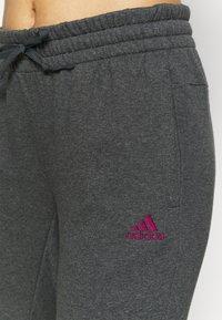 adidas Performance - Tracksuit bottoms - mottled dark grey - 4