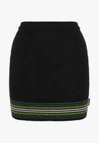 Kickers Classics - STRIPED HEM SKIRT - Miniskjørt - black/green - 0