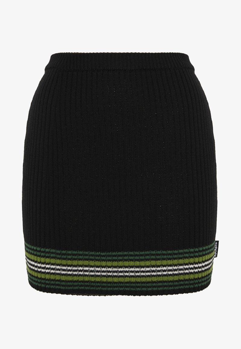 Kickers Classics - STRIPED HEM SKIRT - Miniskjørt - black/green