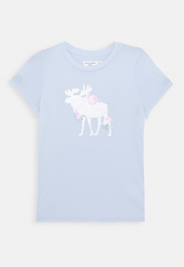 LOGO - T-shirt imprimé - light blue