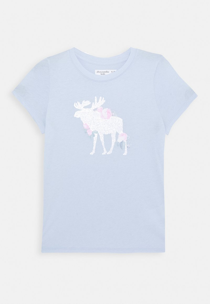 Abercrombie & Fitch - LOGO - T-shirt print - light blue