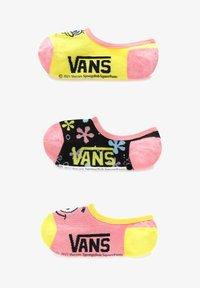 Vans - WM VANS X SPONGEBOB CANOODLES (1-6, 3PK) - Socks - yellow - 0