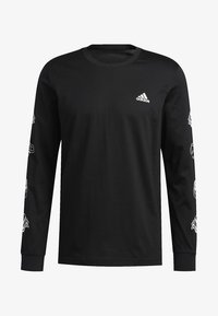 adidas Performance - LIL STRIPE CANNONBALL T-SHIRT - Long sleeved top - black - 6