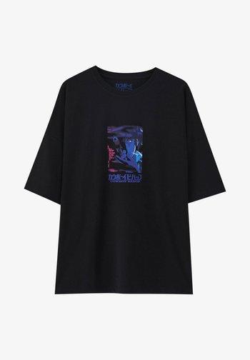 WHITE COWBOY BEBOP - Print T-shirt - black
