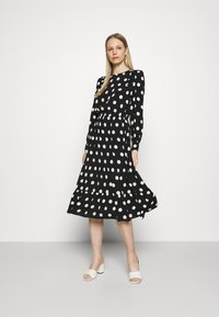 Marks & Spencer London - SPOT VOLUME MIDI - Day dress - black - 0