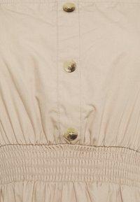 Cotton On Petite - WOVEN SHORT SLEEVE MIDI CORSET DRESS - Vapaa-ajan mekko - latte - 2