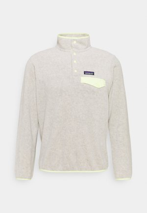 SYNCH SNAP - Fleece jumper - oatmeal heather/jellyfish yellow
