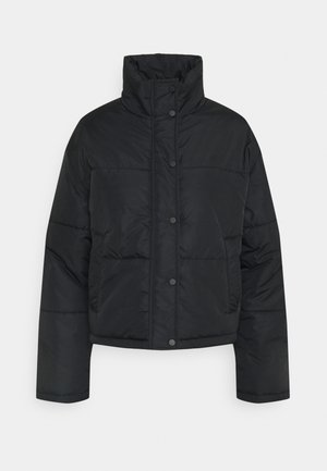 SHORT PUFFER JACKET - Light jacket - black