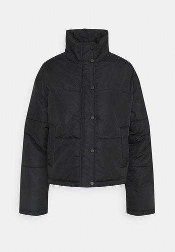 SHORT PUFFER JACKET - Light jacket - black