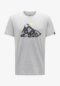 grey melange/signal yellow