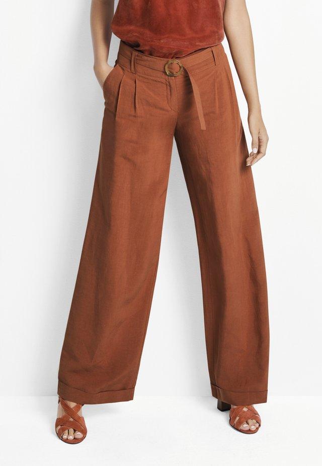 Trousers - kupferrot