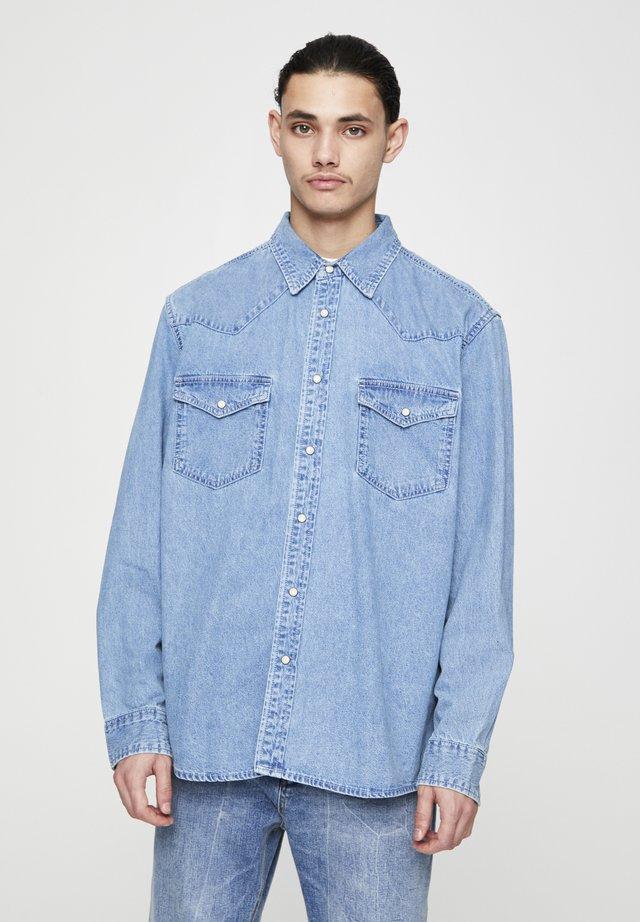 Camicia - mottled light blue