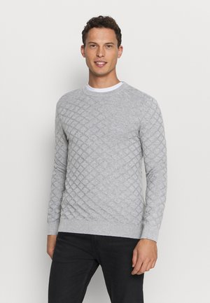 DIAMOND  - Strikkegenser - medium grey melange