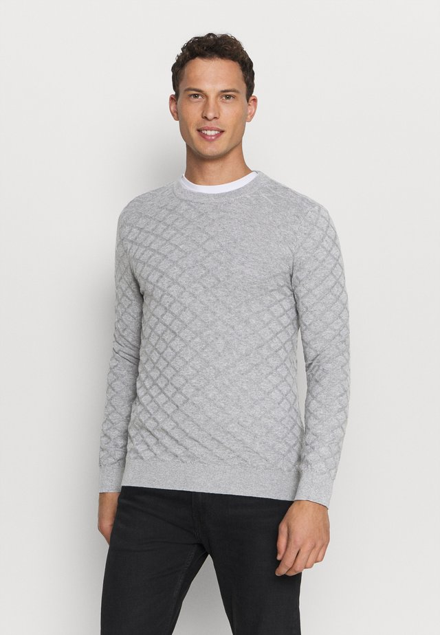 DIAMOND  - Jumper - medium grey melange