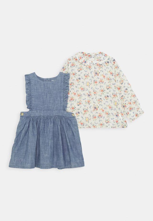 RUFFLE JUMPER SET - Day dress - indigo