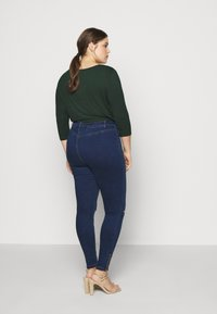 Missguided Plus - LAWLESS HIGHWAISTED SUPERSOFT ANKLE ZIP - Jeans Skinny Fit - deep blue - 2