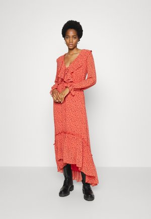 PENNY DITZY FLORAL MAXI RUFFLE DRESS - Maxi dress - rust orange