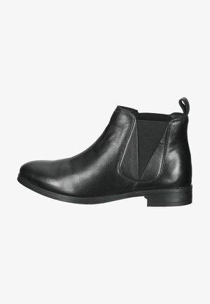 Ankelstøvler - black leather 2220