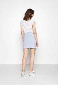 Even&Odd - 2er PACK - Mini skirts basic with slits - Pencil skirt - black/light blue - 2