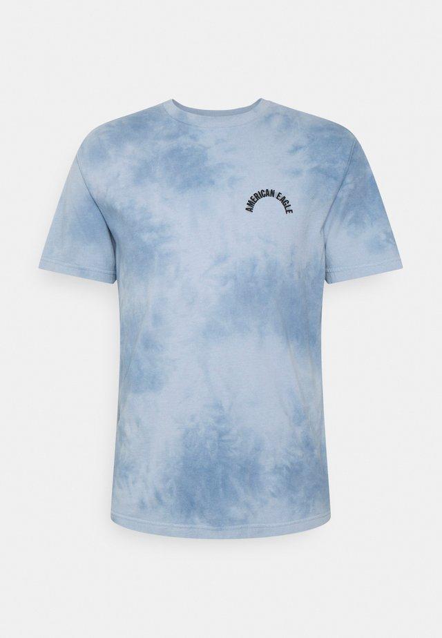 DYE EFFECT TEE WEB ICON - Print T-shirt - light blue