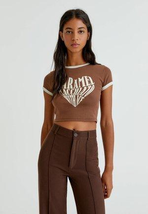 Print T-shirt - brown