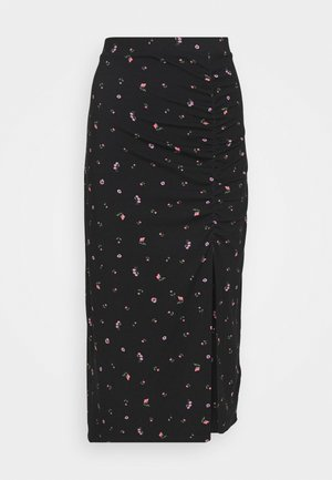 VANESSA SKIRT - Falda larga - black
